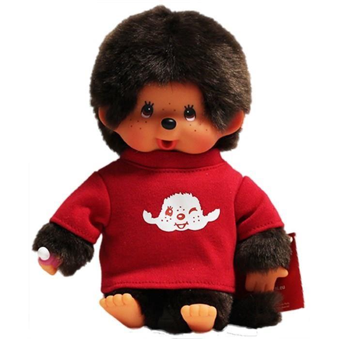 bandai-monchhichi-garcon-t-shirt-rouge-20-cm