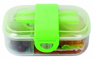 Click Lock Bento box green