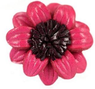 bague cuir rose