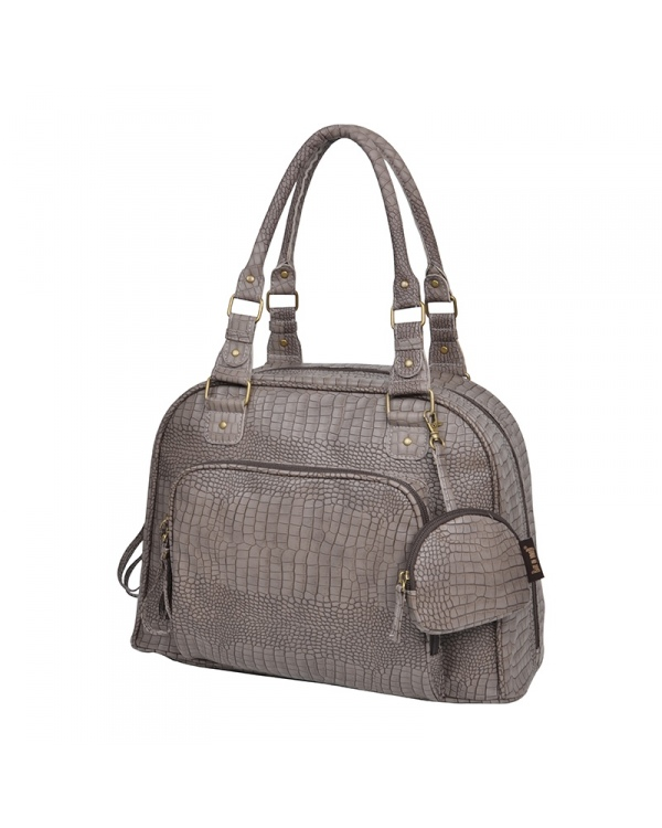 mon sac langer mon croco bag taupe de chez baby on board maman cat. Black Bedroom Furniture Sets. Home Design Ideas