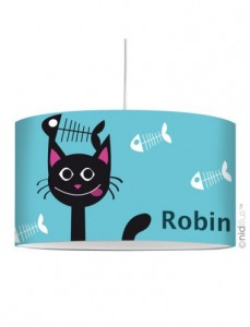lampe-suspension-personnalisee-chat-et-poissons
