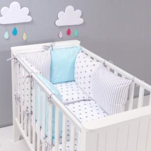 parure-bebe-avec-tour-de-lit-modulable-stars-gris-bleu