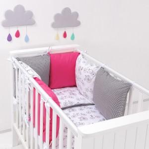 parure-bebe-avec-tour-de-lit-modulable-velo-fuchsia