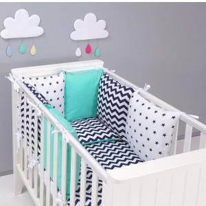 parure-bebe-avec-tour-de-lit-modulable-zigzag-vert