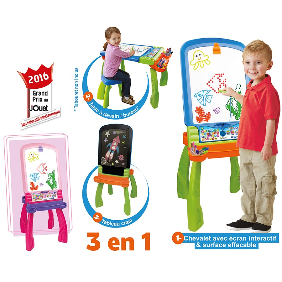 Test le magi chevalet interactif 3 en 1 vtech maman cat for Bureau interactif 3 en 1
